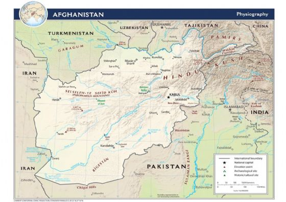 CIA Map of Afghanistan (Physiography) 2009 Print/Poster (5205)